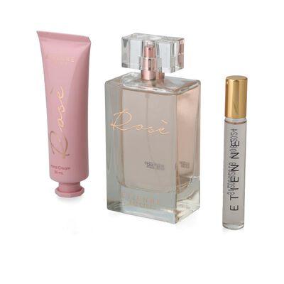 Set De Perfumería Etienne Essence / / + Rose 100 Ml + Rose 10 Ml + Crema Manos Rose 50 Gr