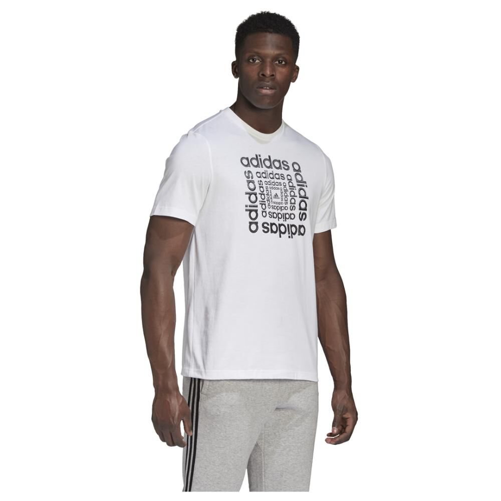 Polera Hombre Adidas M Hyperreal Dimension Tee image number 4.0