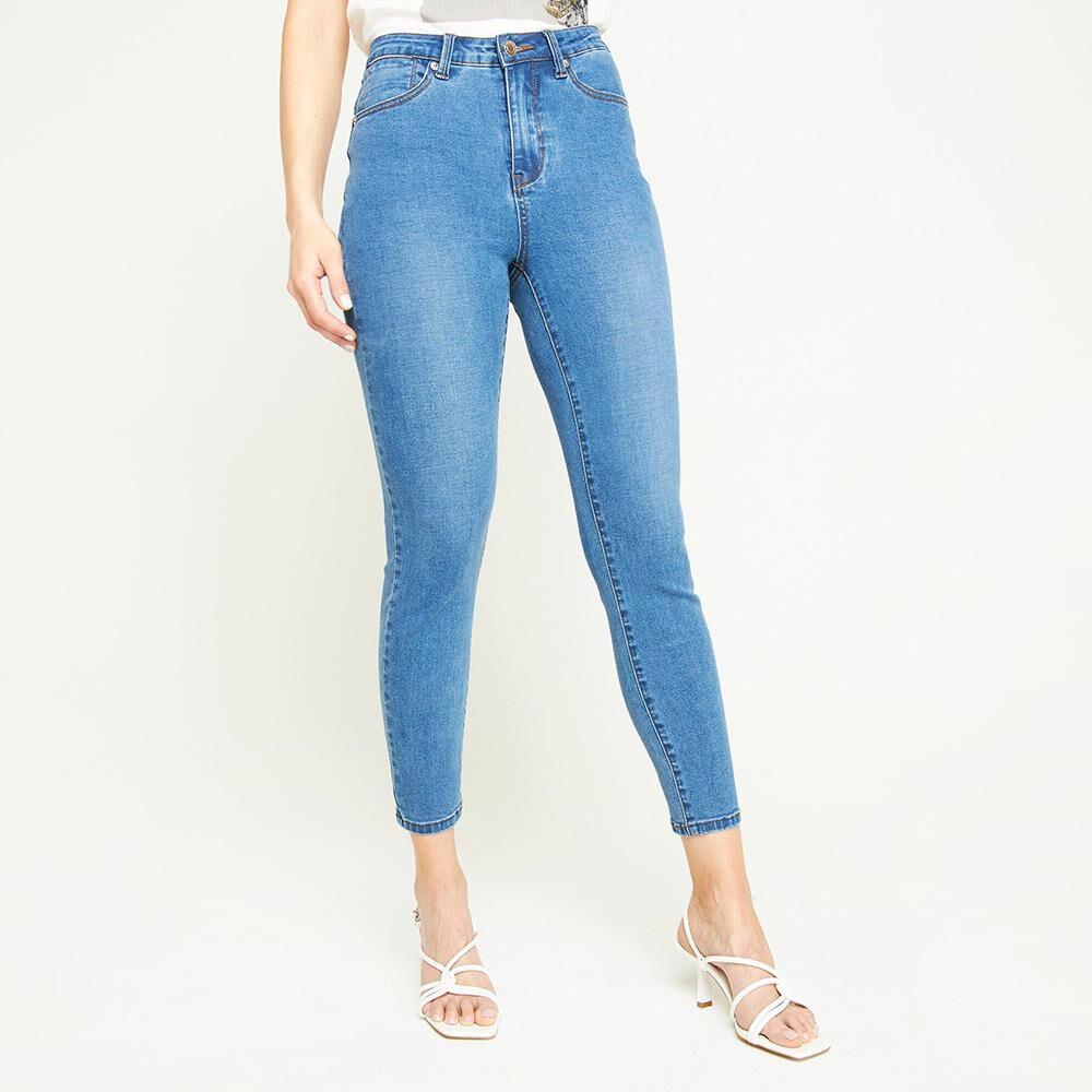 Jeans Tiro Medio Skinny Push Up Mujer Kimera image number 0.0