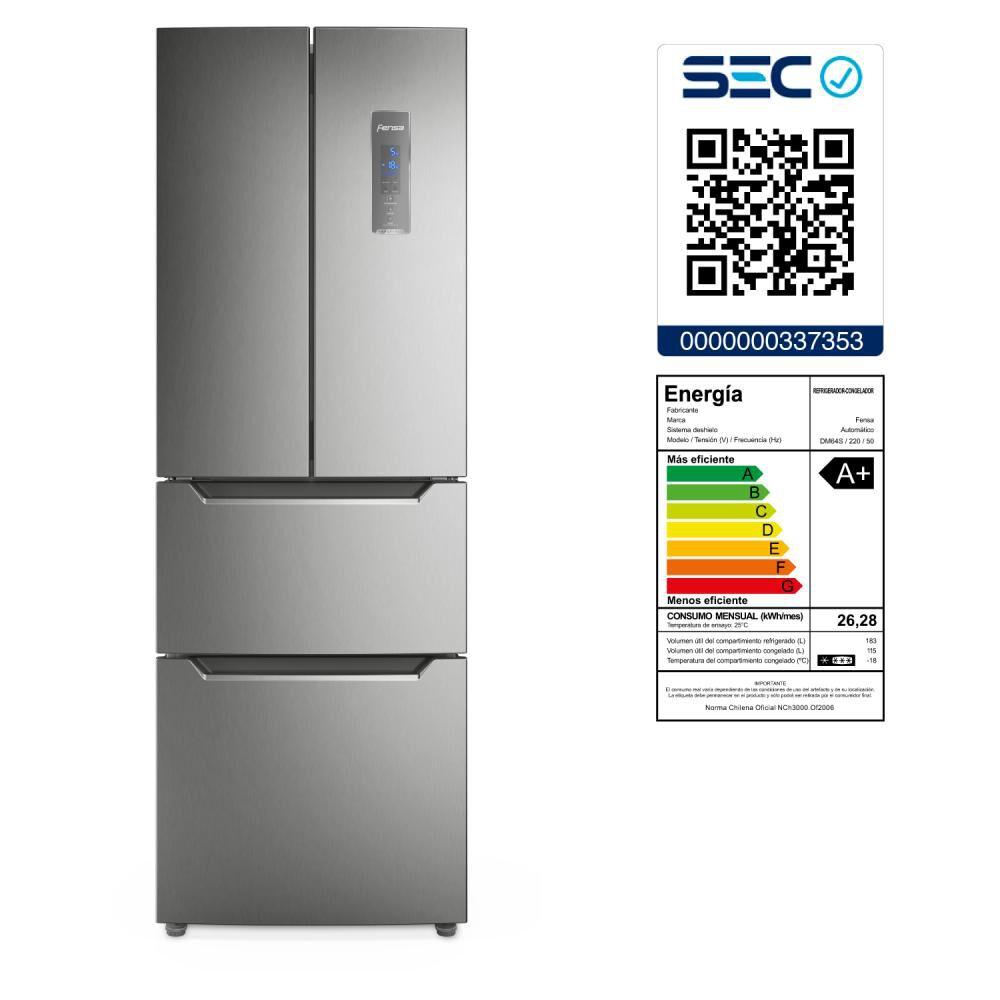 Refrigerador Refrigerador Side by Side Fensa DM64S / No Frost / 298 Litros image number 8.0