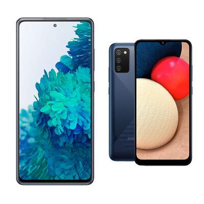 Smartphone Samsung S20fe Azul / 256 Gb + Smartphone Samsung A02S Azul