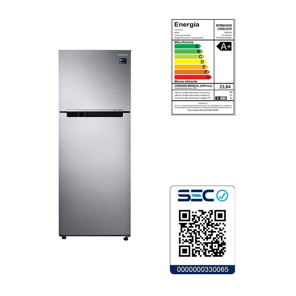 Refrigerador Samsung No Frost, Convencional Rt38k50ajs8 385 Litros, 301 A 400 Litros image number 4.0