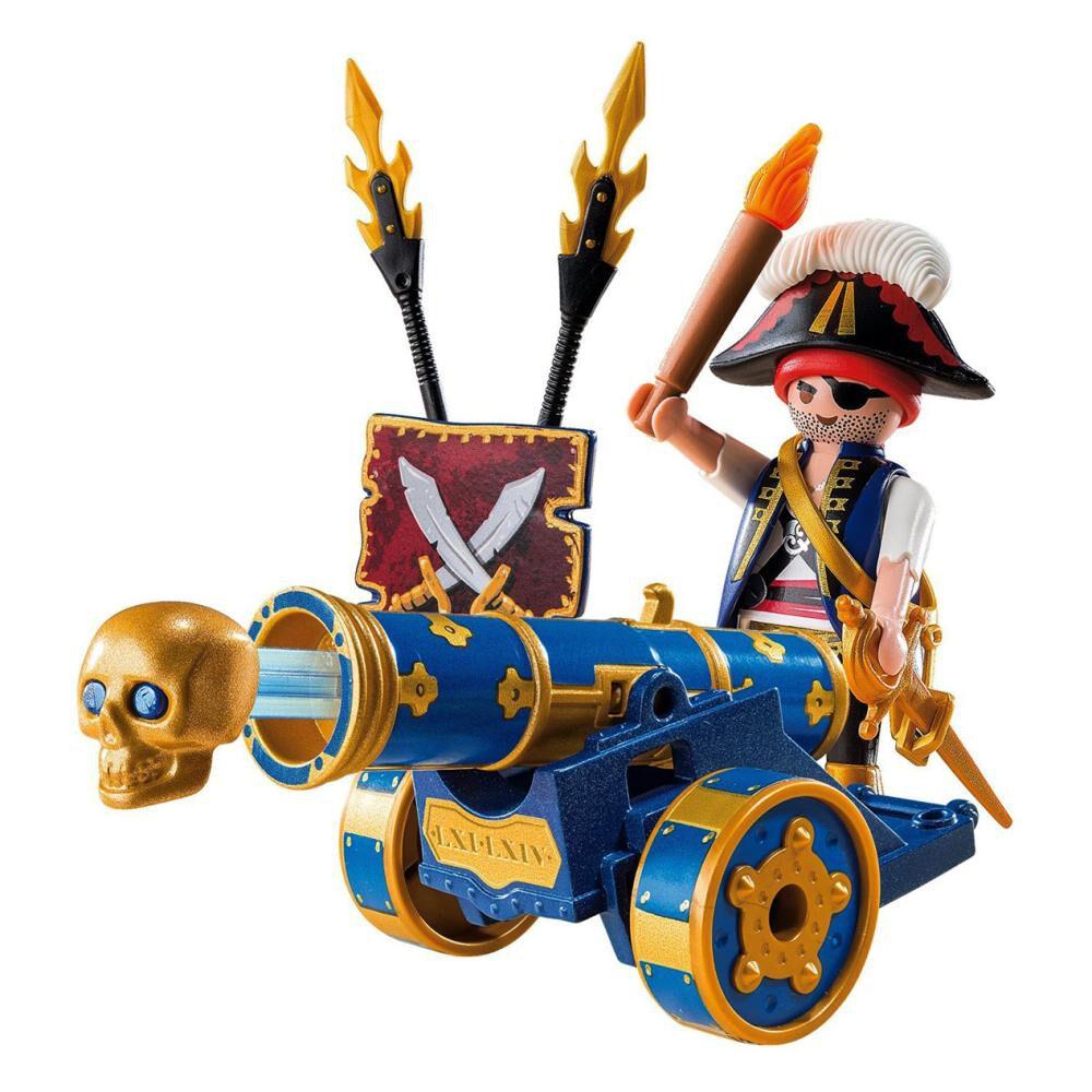 Figura De Acción Playmobil Cañón Interactivo Azul Con Pirata image number 1.0