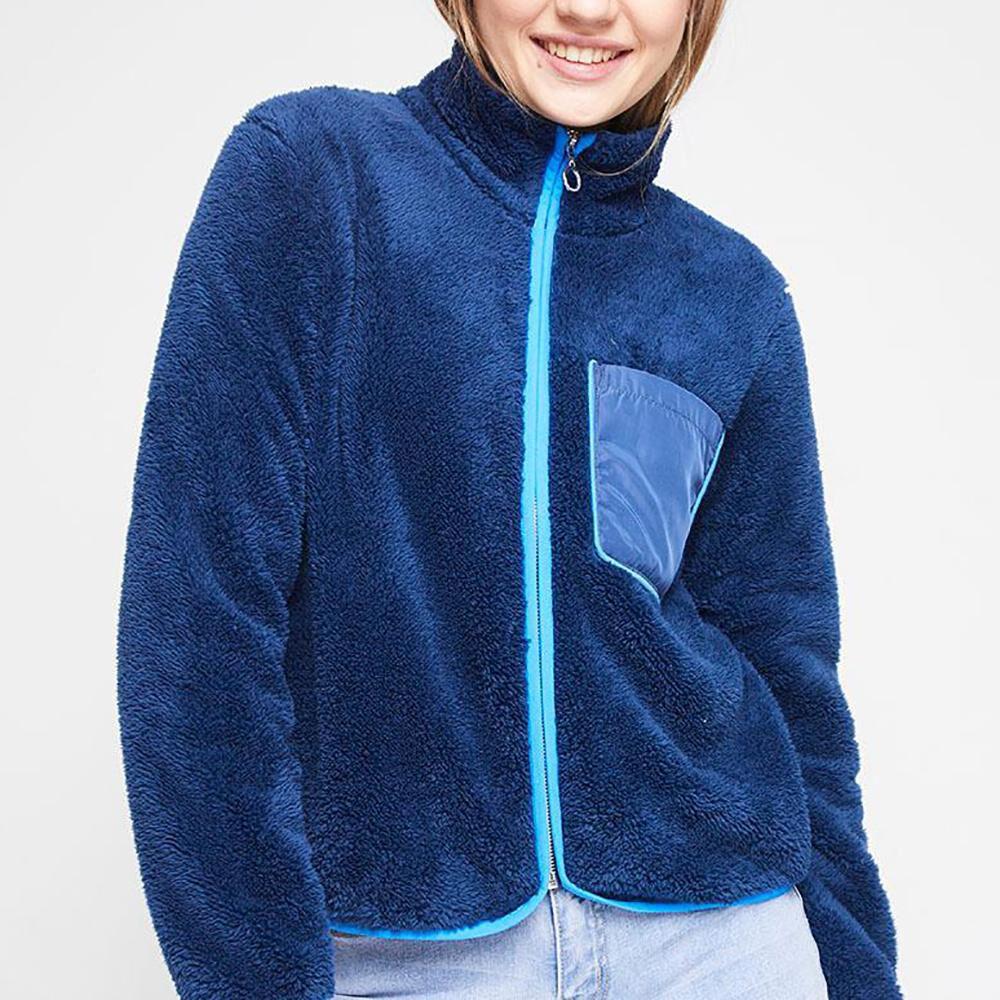 Poleron Polar Bicolor Cuello Alto Mujer Freedom image number 0.0