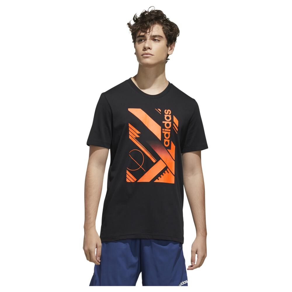 Polera Adidas M Core Graphic Linear Tee 2 image number 0.0