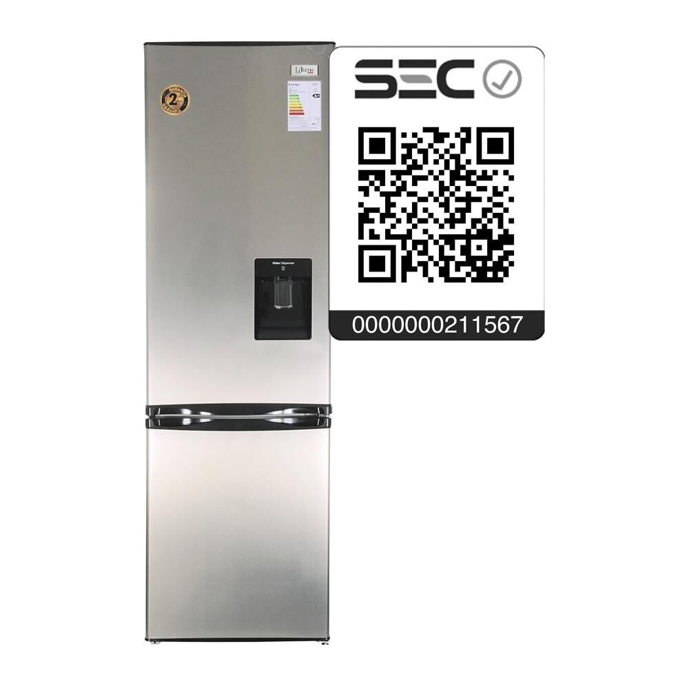 Refrigerador Bottom Freezer Libero LRB-270LW / Frío Directo / 244 Litros image number 3.0