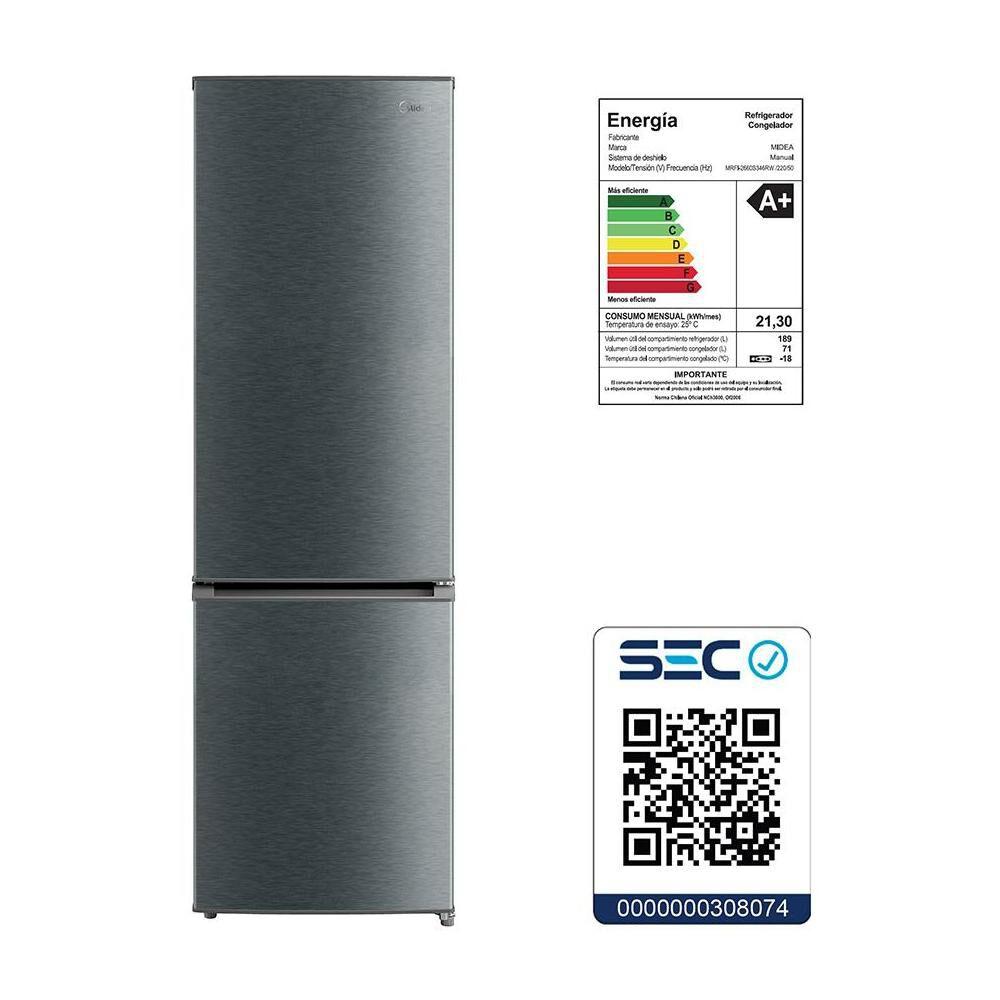 Refrigerador Midea Mrfi-2660S346Rw / Frío Directo / 260 Litros image number 6.0