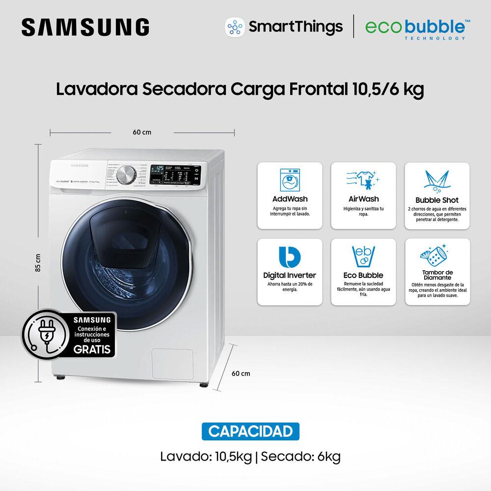 Lavadora - Secadora Samsung Wd10j6410aw 10.5 Kg / 6 Kg image number 2.0