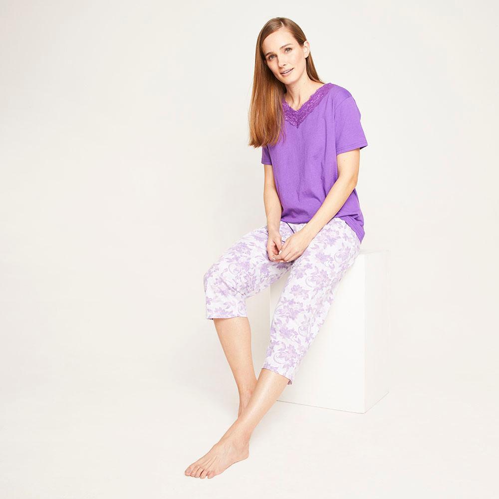Pijama Capri Manga Corta Mujer Lesage image number 1.0