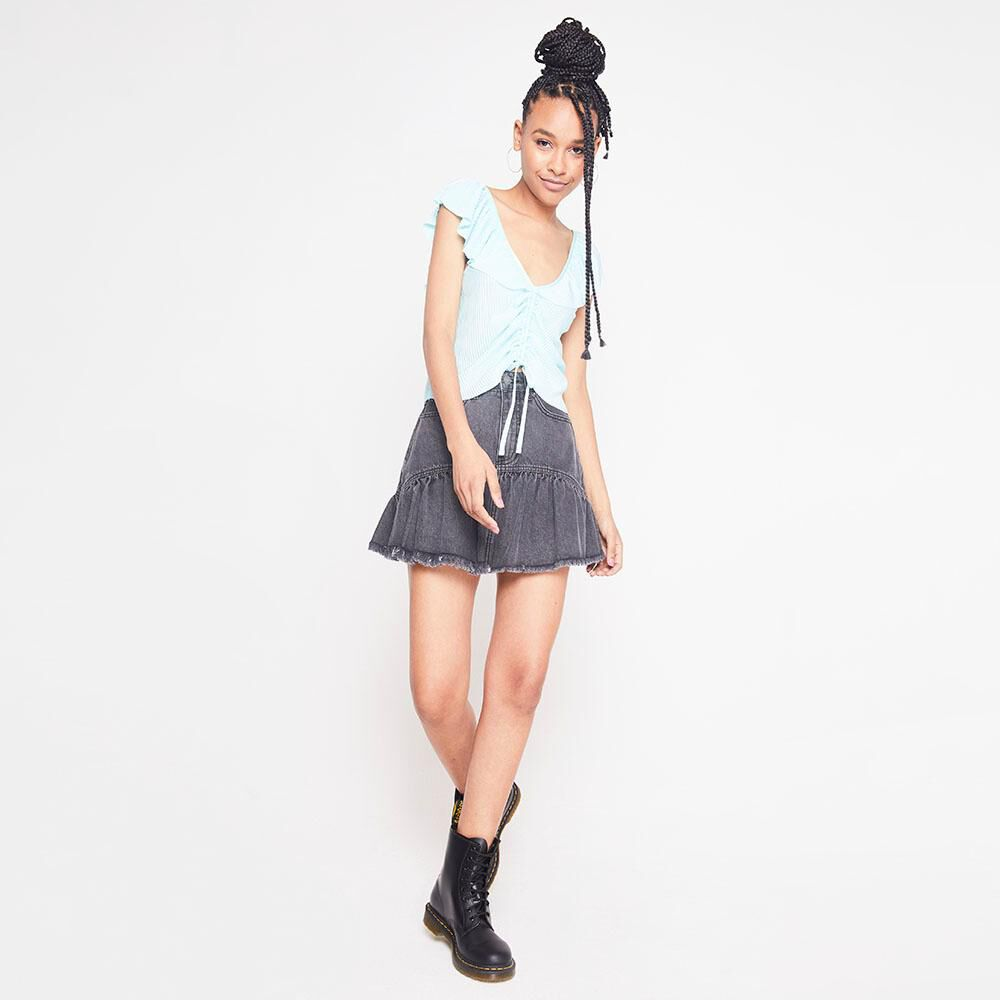 Blusa Plizada Mujer Rolly Go image number 1.0