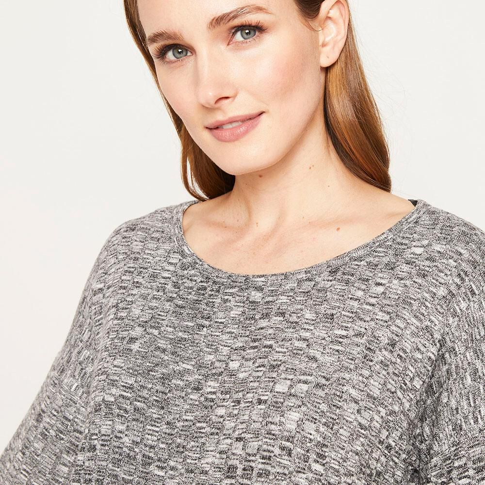 Sweater Melange Canuton Regular Fit Cuello Redondo Mujer Geeps image number 3.0