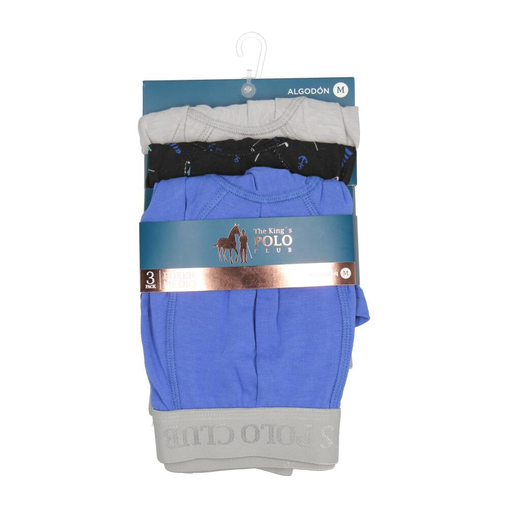 Pack Boxer Hombre The King's Polo Club / 3 Unidades image number 0.0