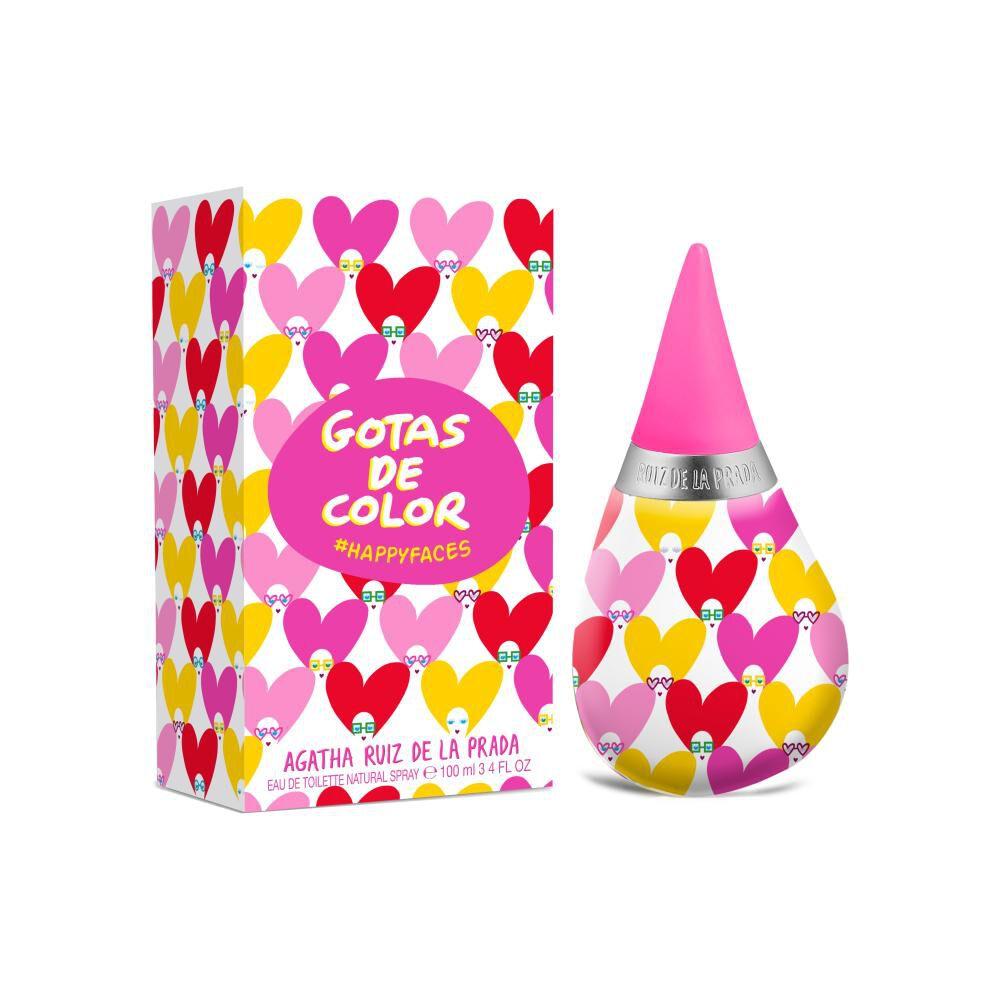 Perfume Mujer Gotas Happy Faces Agatha Ruiz De La Prada / 100 Ml / Eau De Toilette image number 0.0