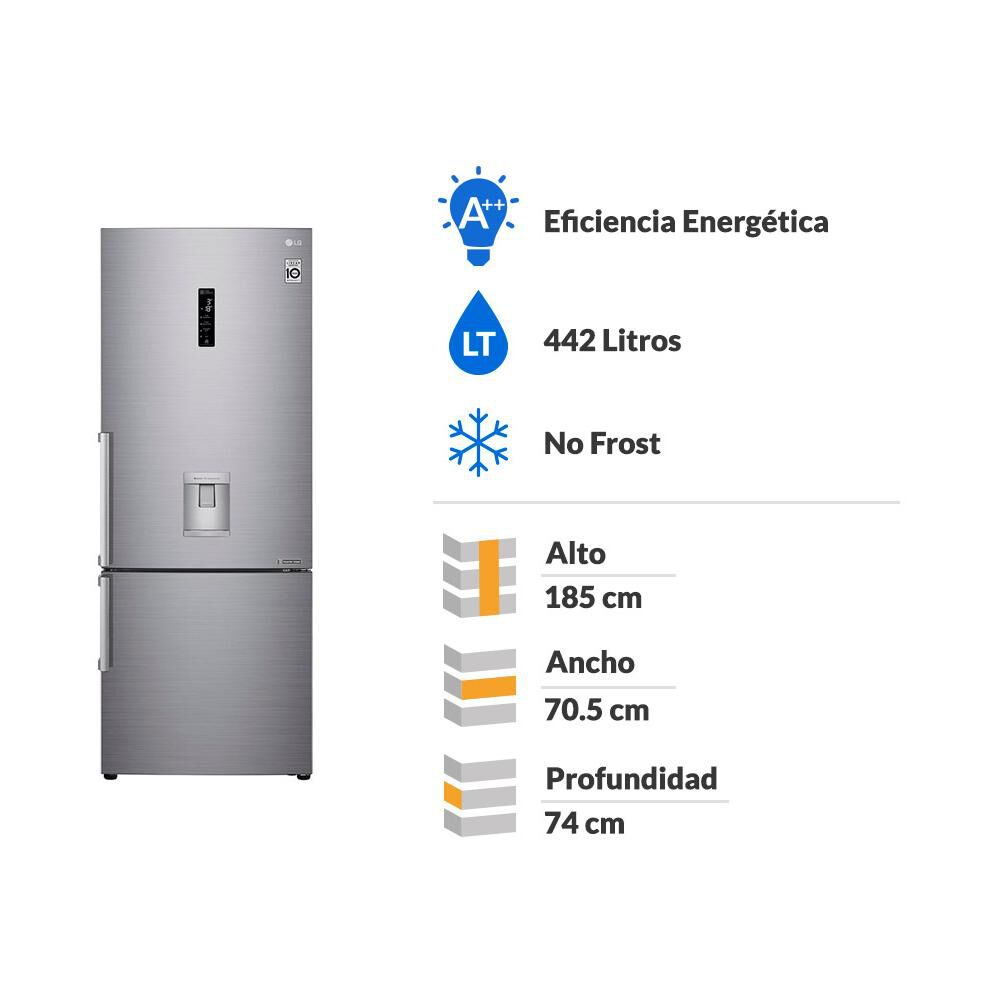 Refrigerador Bottom Freezer LG LB45SGP / No Frost / 442 Litros image number 1.0