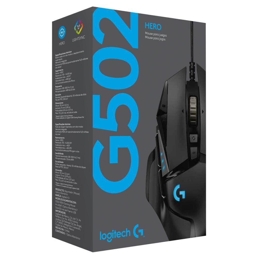 Mouse Gamer Logitech G502 image number 3.0