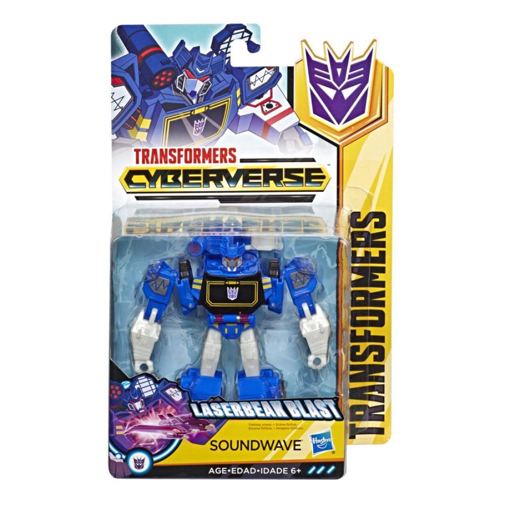 Figura De Accion Transformers Cyberverse Warrior Soundwave image number 0.0