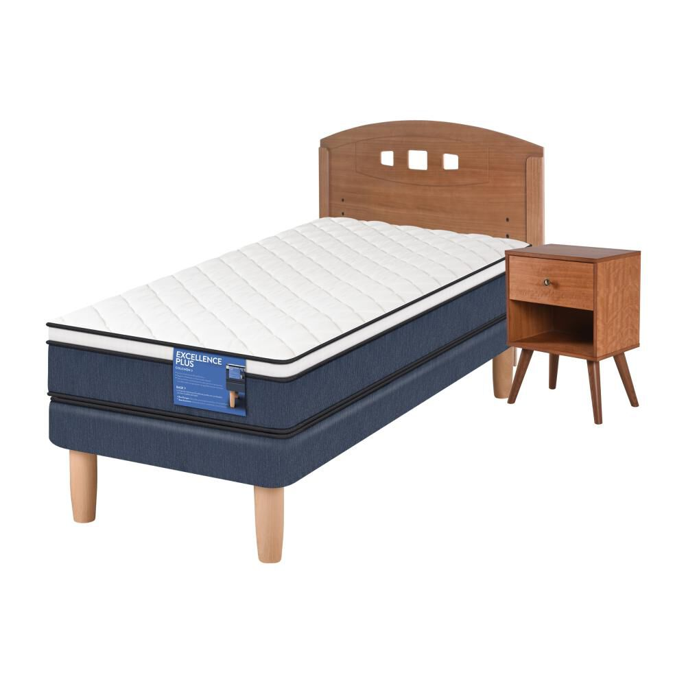 Cama Europea Cic Excellence Plus / 1.5 Plazas / Base Normal  + Set De Maderas image number 1.0