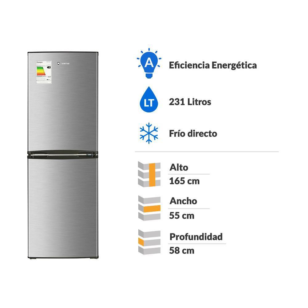 Refrigerador Bottom Freezer Mademsa Nordik 415 Plus/ Frío Directo/ 231 Litros image number 1.0