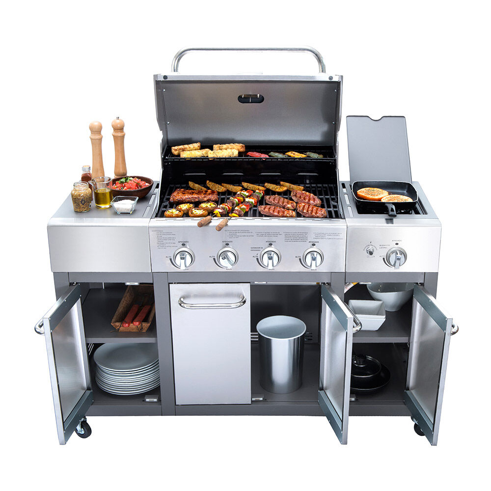 Parrilla A Gas Bbq Gril Bbq401Gcqlm / 4 Quemadores + Lateral image number 1.0