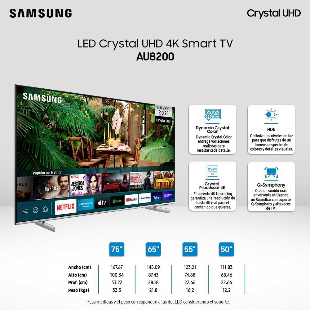 """Led Samsung AU8200 / 75"""" / Ultra Hd 4k / Smart Tv 2021 image number 3.0"""