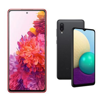 Samsung S20FE Rojo + Samsung A02 Negro