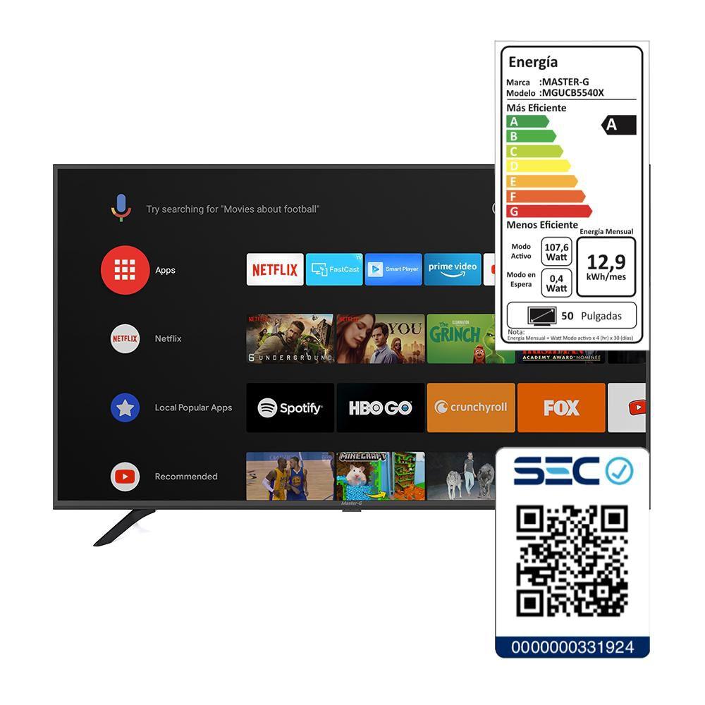"Led Master G Mga5000  / 50"" / Ultra Hd / 4k / Smart Tv image number 5.0"