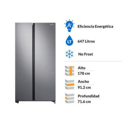 Refrigerador Side By Side Samsung   Rs62R5011M9/Zs / No Frost / 647 Litros