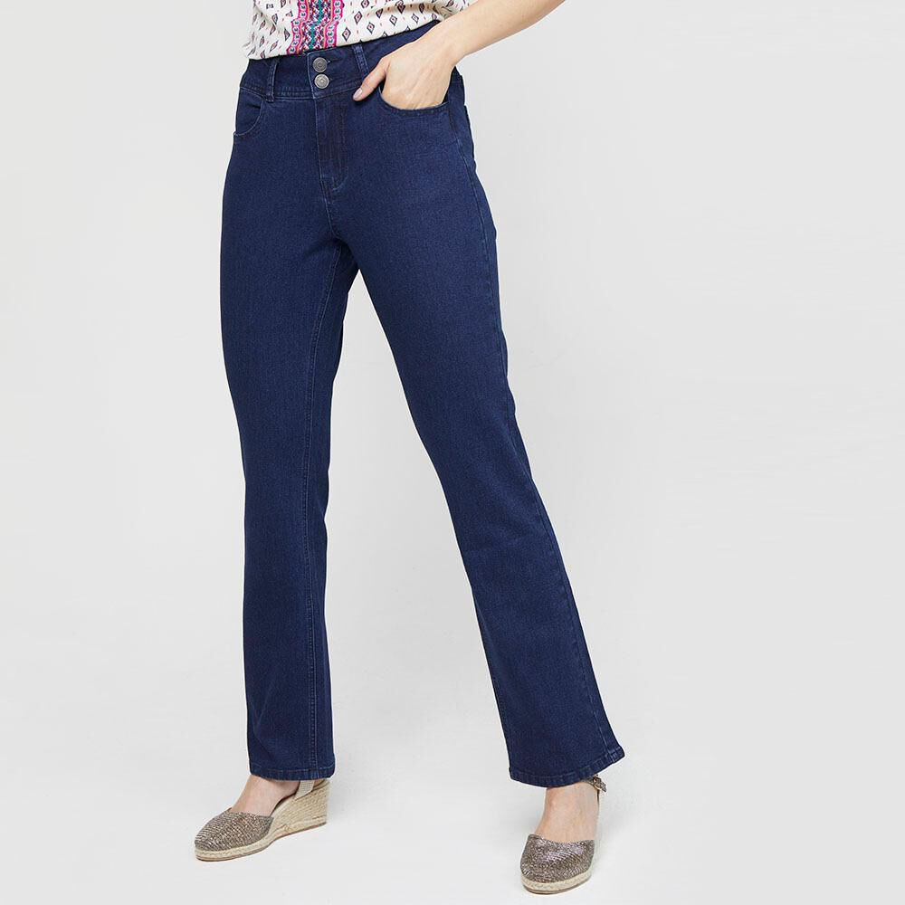 Jeans Mujer Tiro Alto Recto Geeps image number 0.0