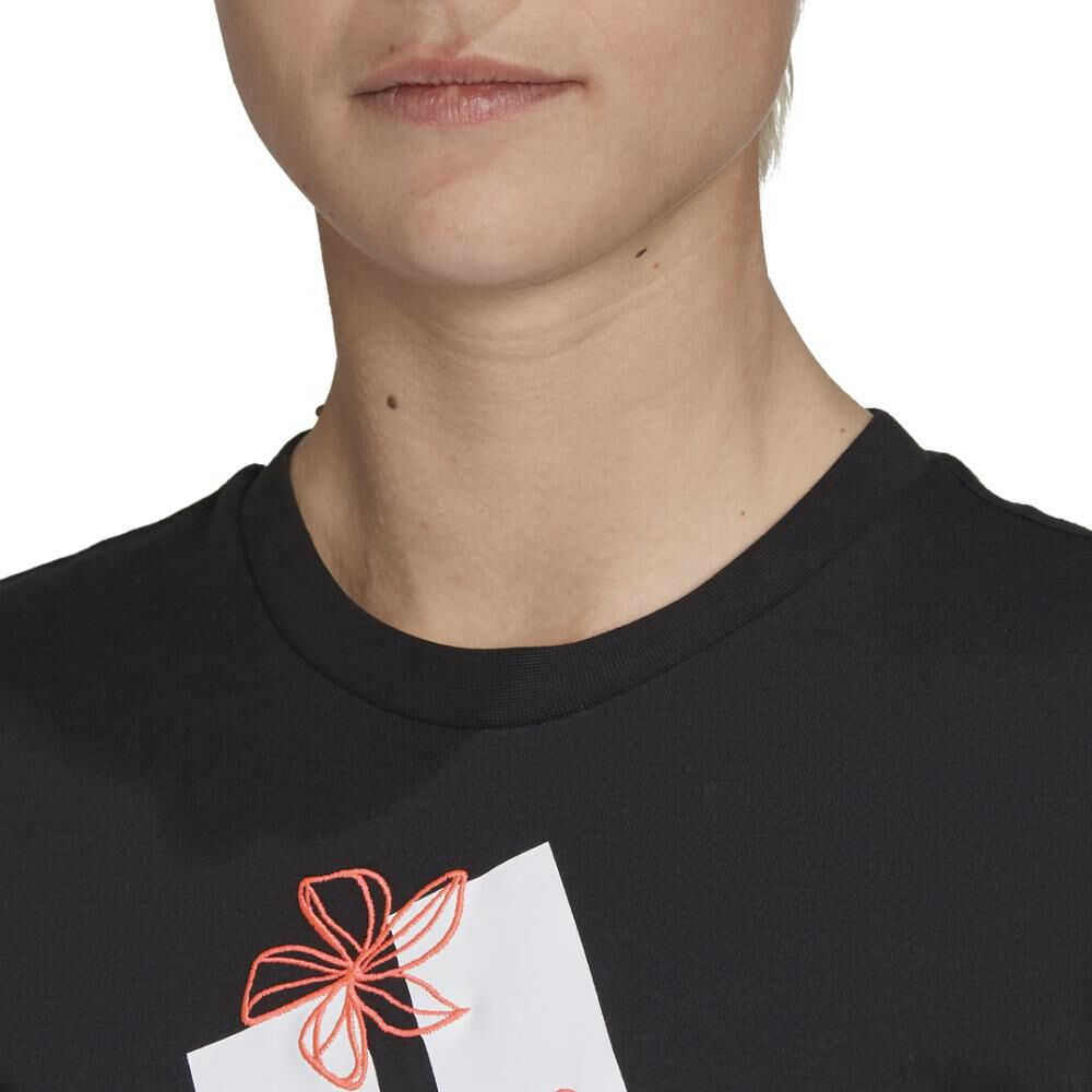 Polera Mujer Adidas Womens Floral Graphic image number 4.0