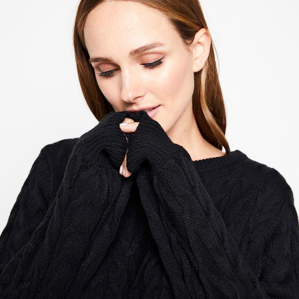 Sweater Trenzado Mujer Kimera image number 3.0