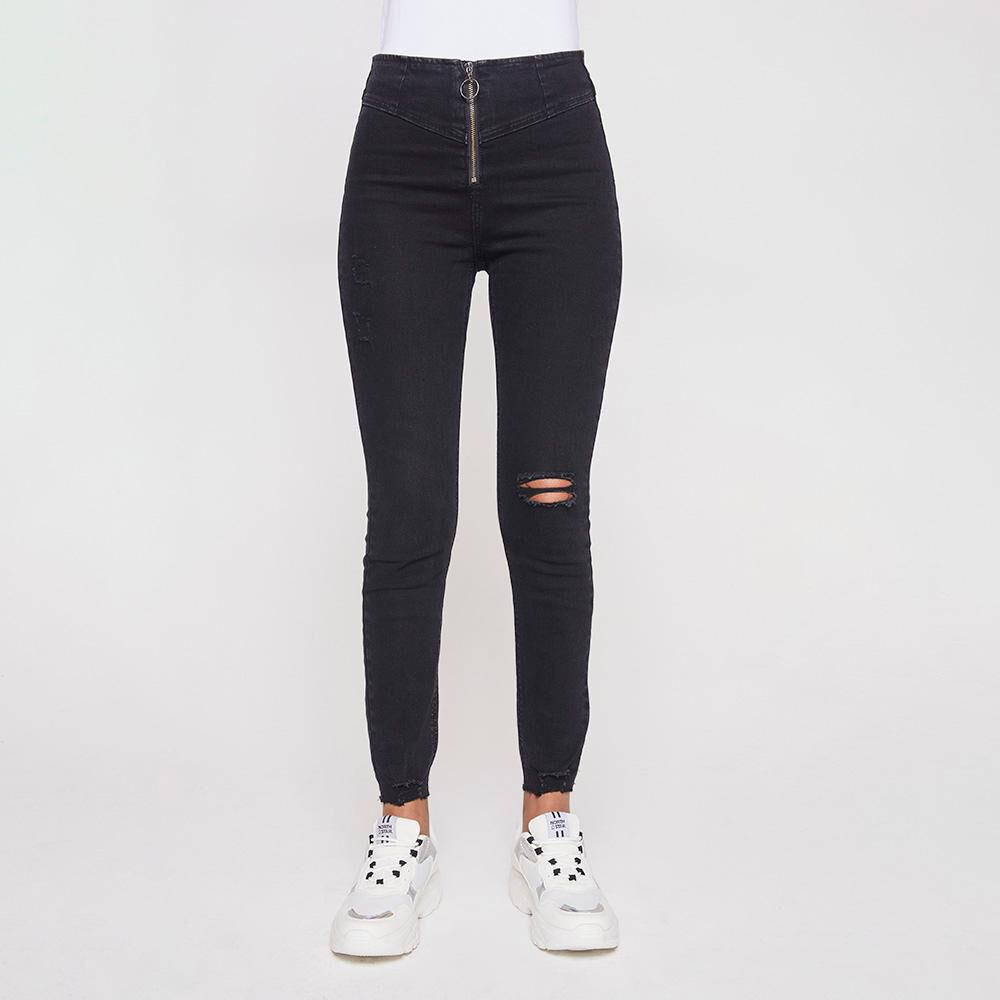 Jeans Mujer Tiro Alto Super Skinny Rolly Go image number 0.0