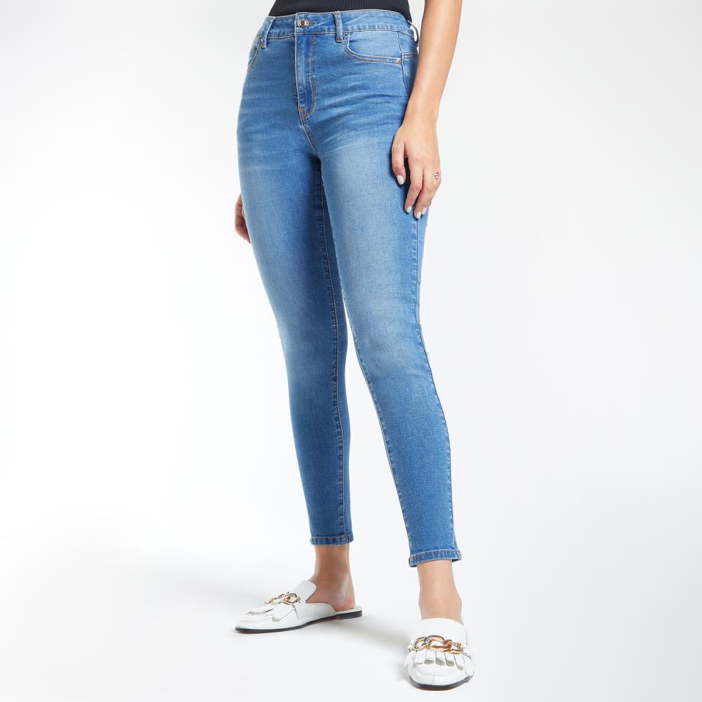 Jeans Mujer Tiro Alto Skinny Push Up Kimera image number 2.0