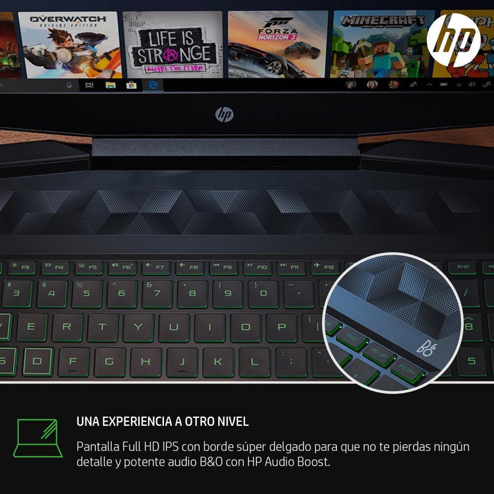 "Notebook Hp Pavilion Gaming Laptop 15 Dk1028la / Negro / Intel Core I5 / 8 Gb Ram / 256 Gb SSD / Nvidia Geforce GTX 1050 / 15.6"" image number 6.0"