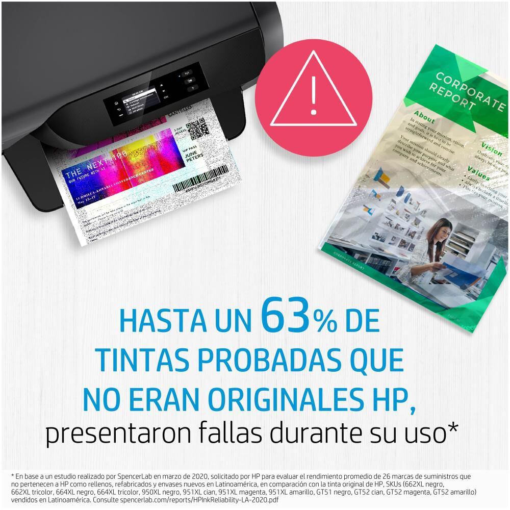 Tinta Hp 664 Tri-color Ink Cartridge image number 2.0
