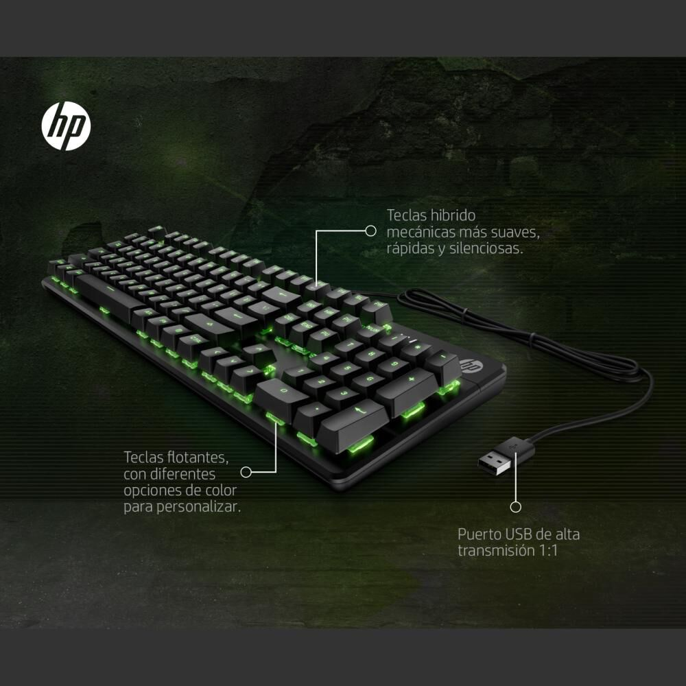 Teclado Gamer Hp Pavilion Gaming 500 image number 4.0