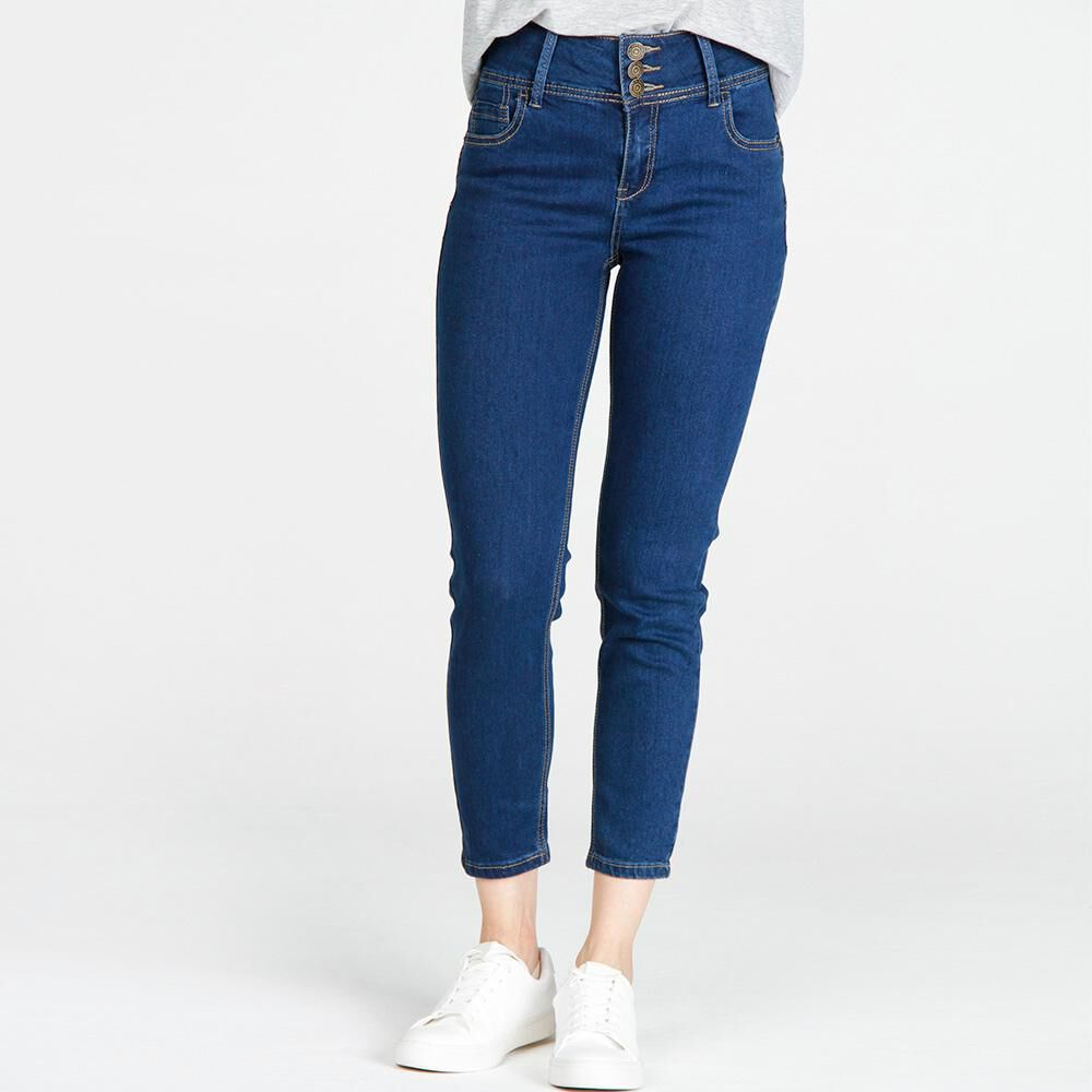 Jeans Mujer Tiro Alto Skinny Push up Geeps image number 0.0