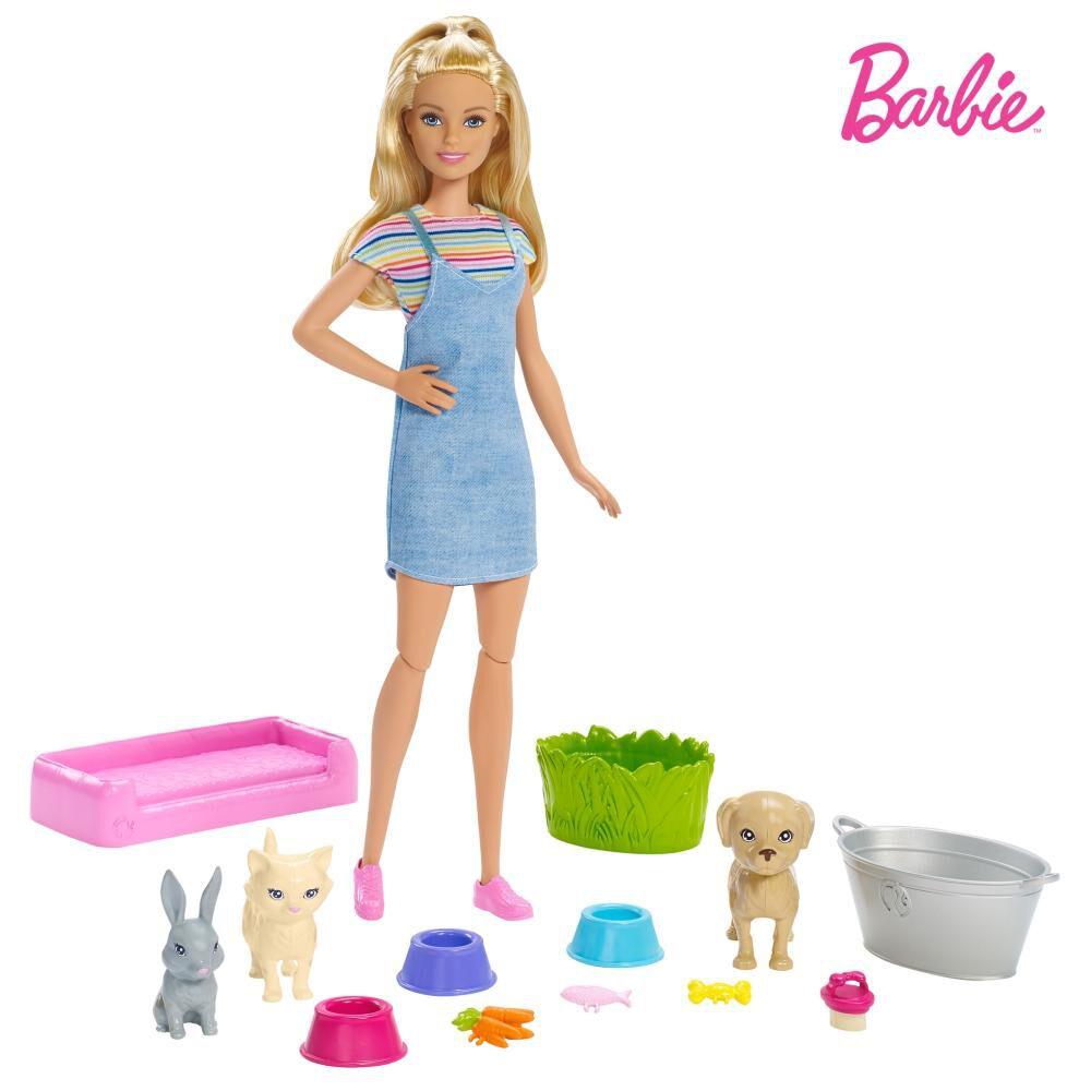 Muñeca Barbie Baño De Perritos image number 0.0