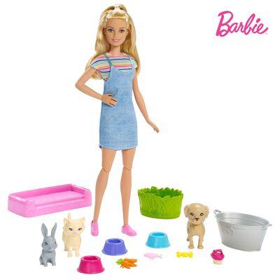Muñeca Barbie Baño De Perritos