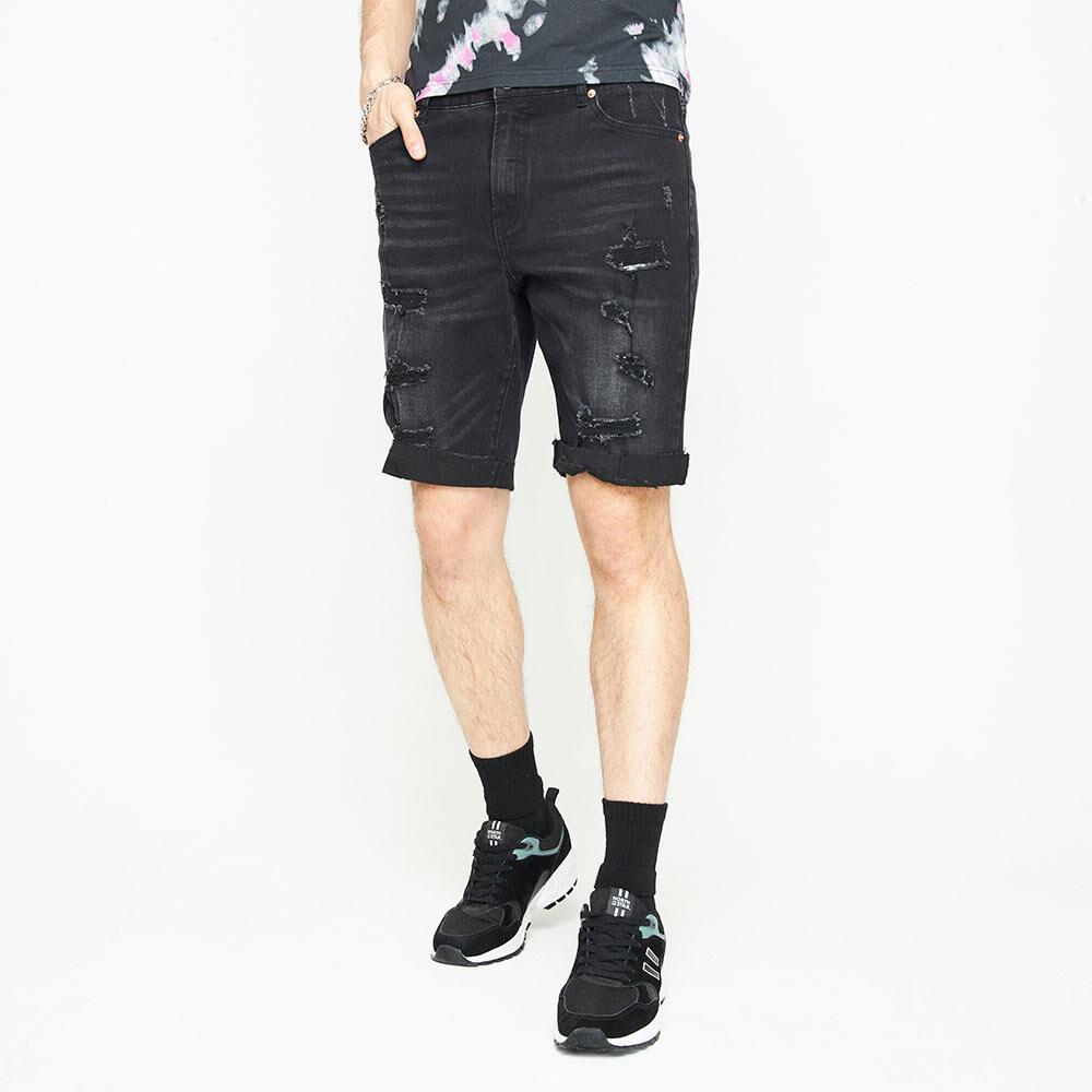 Bermuda Jeans Con Roturas Hombre Rolly Go image number 0.0
