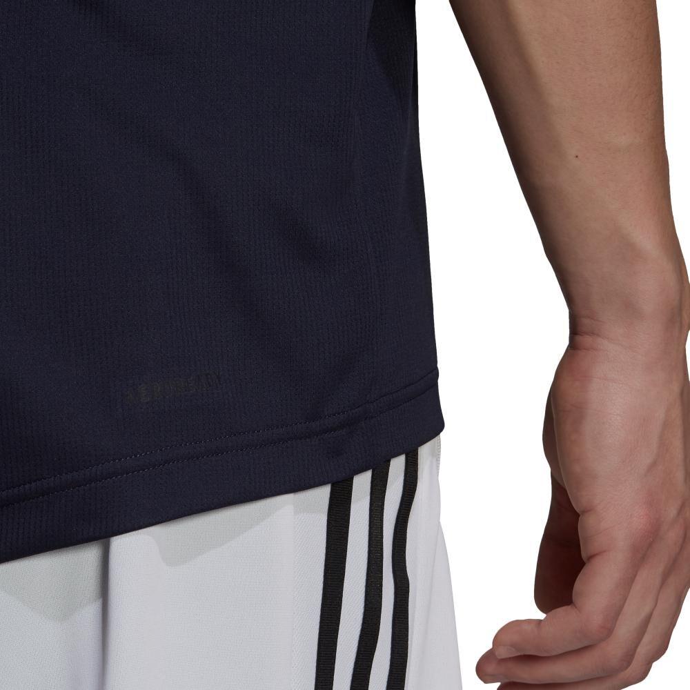 Polera Hombre Adidas Aeroready Designed To Move Sport 3 Bandas image number 6.0
