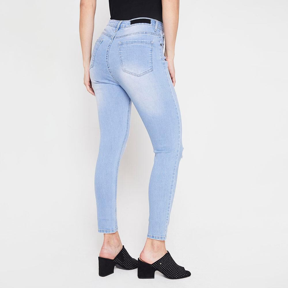 Jeans Skinny Roturas Mujer Kimera image number 2.0