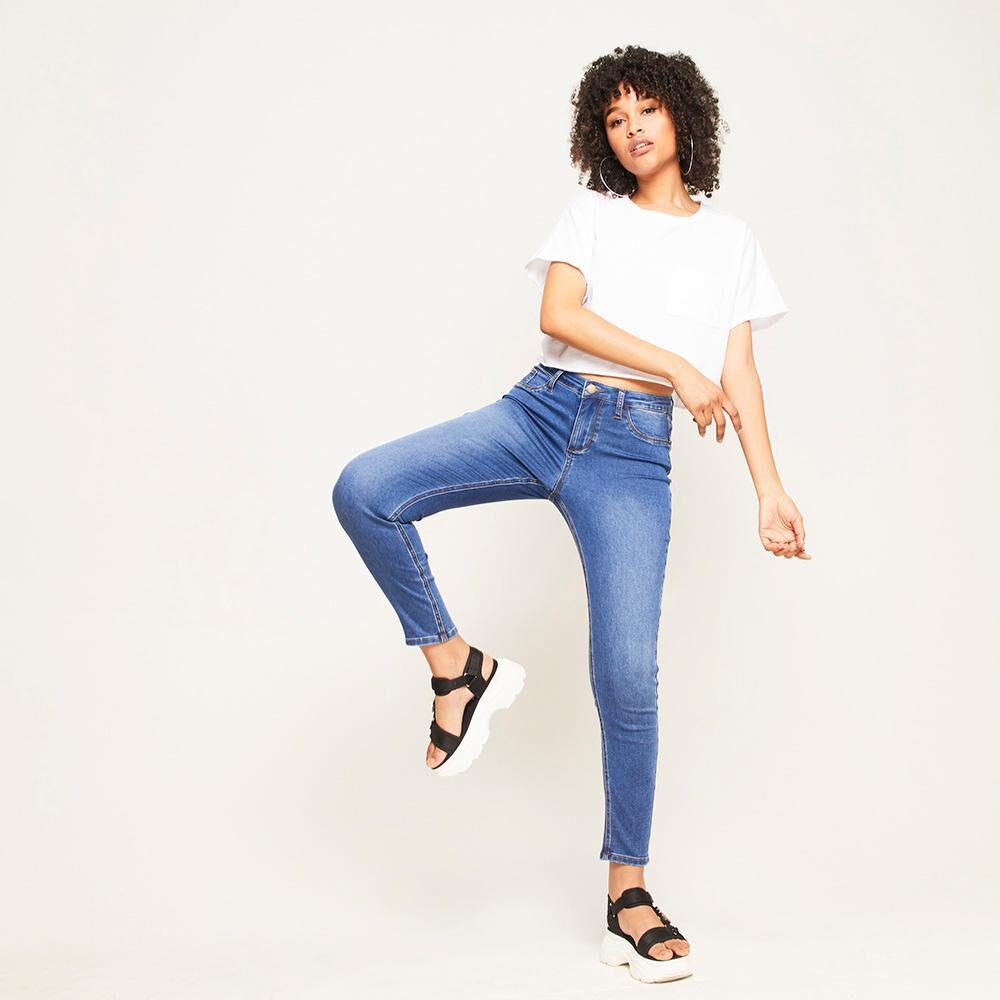 Jeans Básico Tiro Alto Super Skinny Mujer Rolly Go image number 1.0