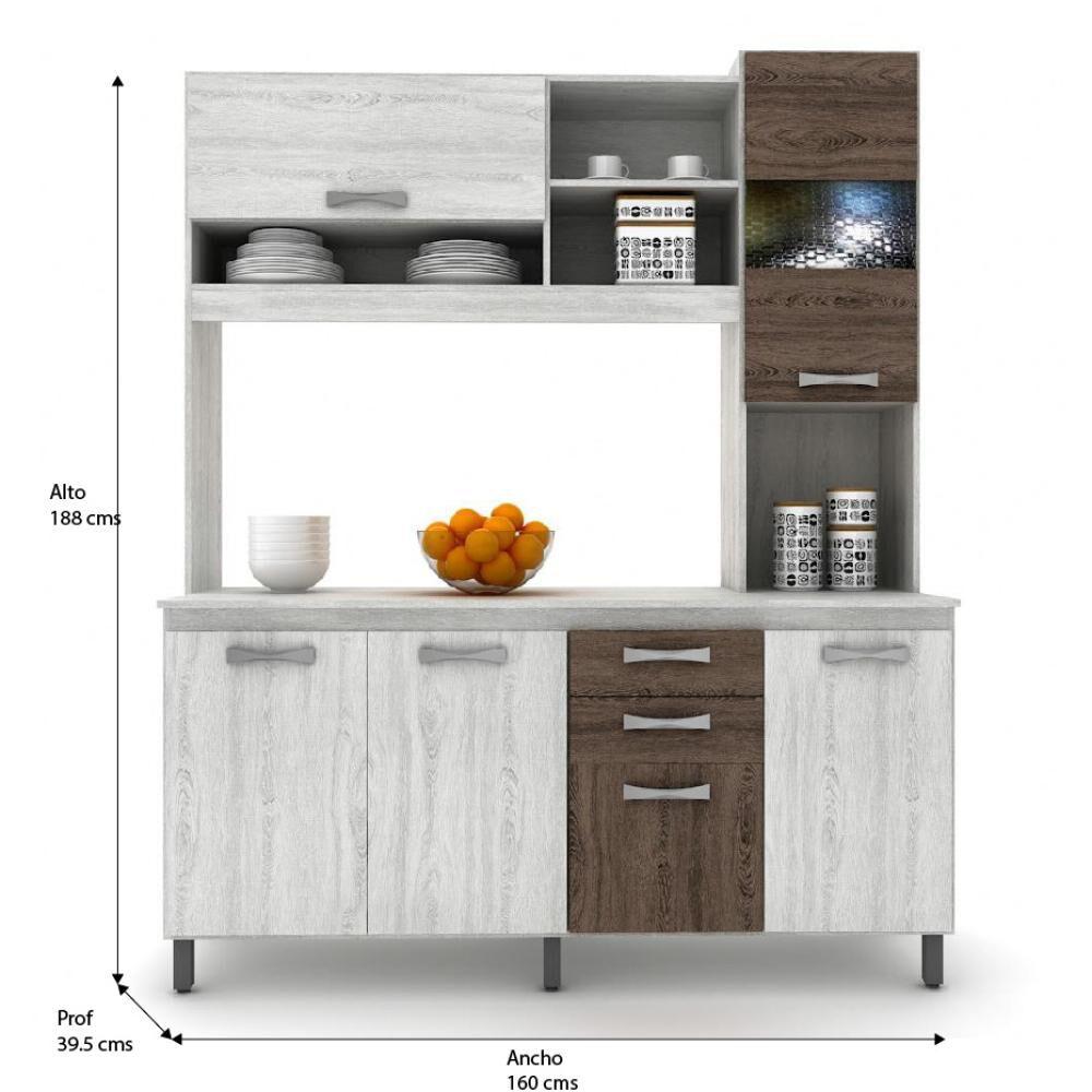 Mueble De Cocina Casa Ideal Vivi / 6 Puertas / 2 Cajones image number 1.0