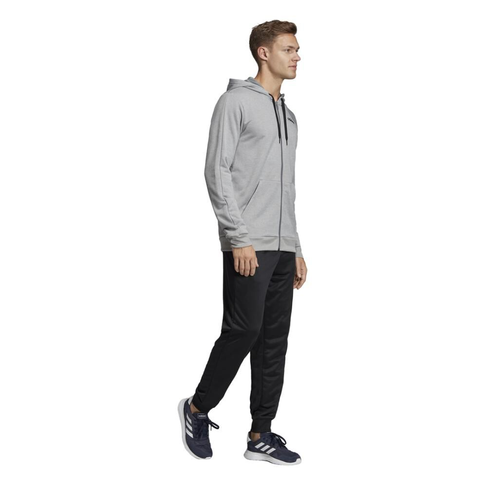 Buzo Con Capucha Hombre Adidas Linear French Terry image number 6.0