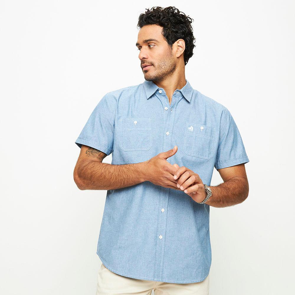 Camisa Lisa Manga Corta Hombre The King's Polo Club image number 0.0