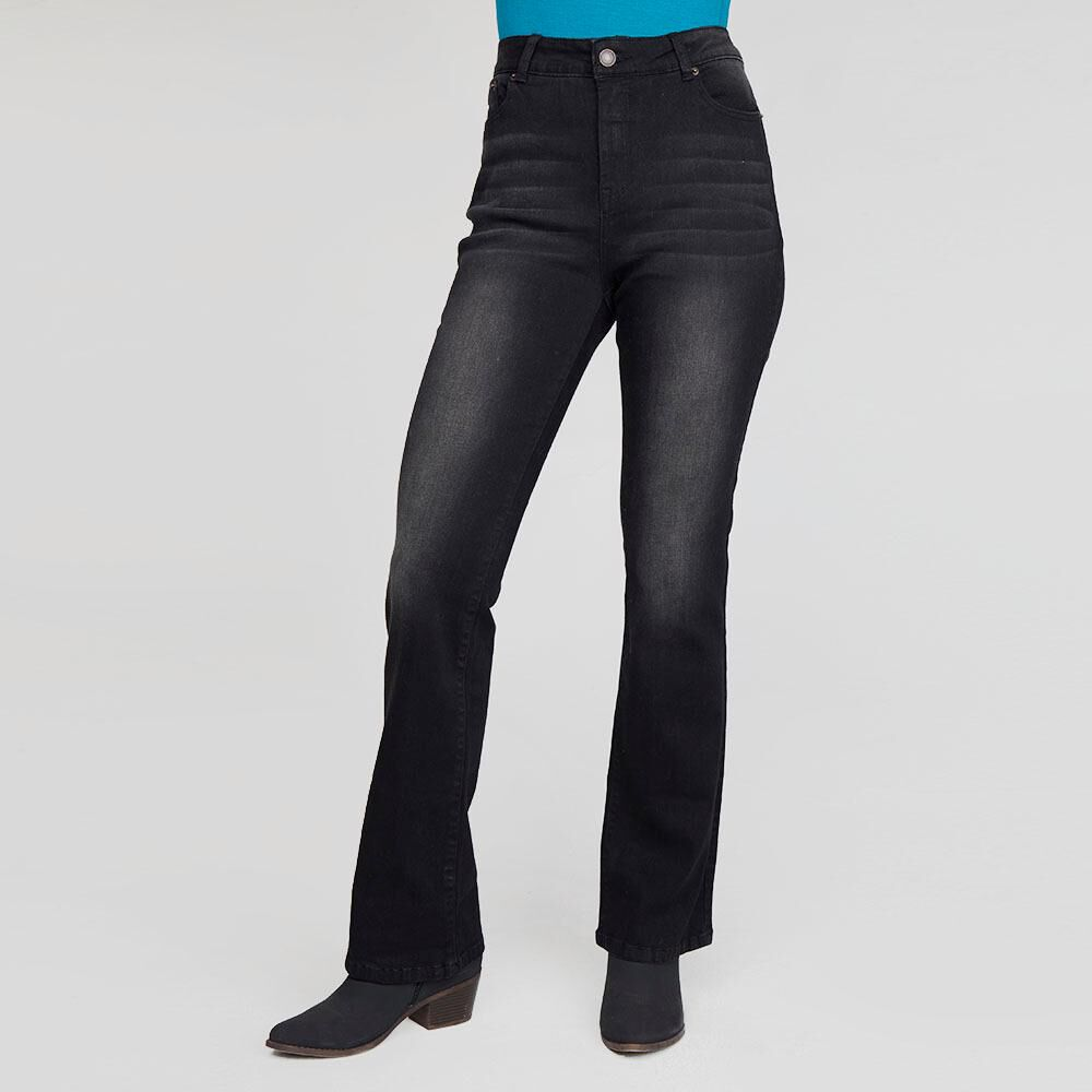Jeans Mujer Tiro Alto Flare Geeps image number 0.0