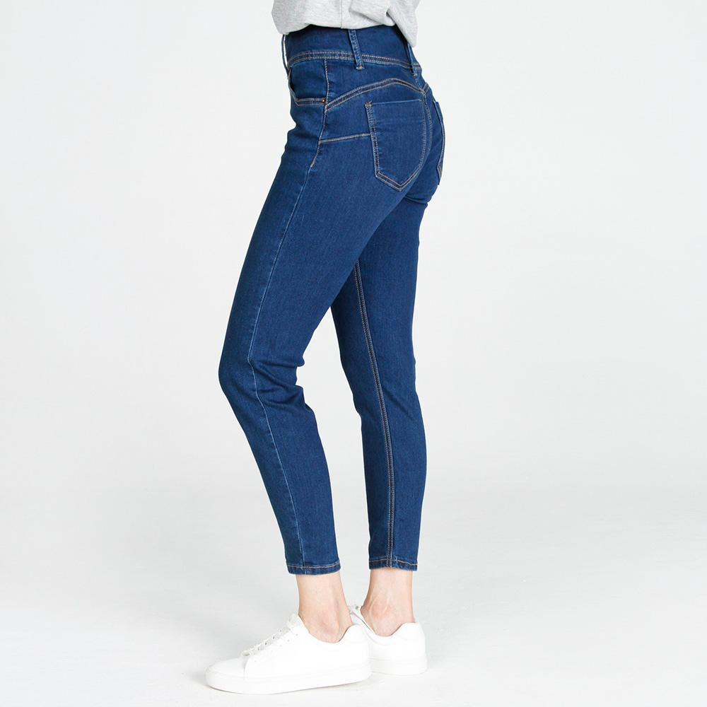 Jeans Mujer Tiro Alto Skinny Push up Geeps image number 2.0