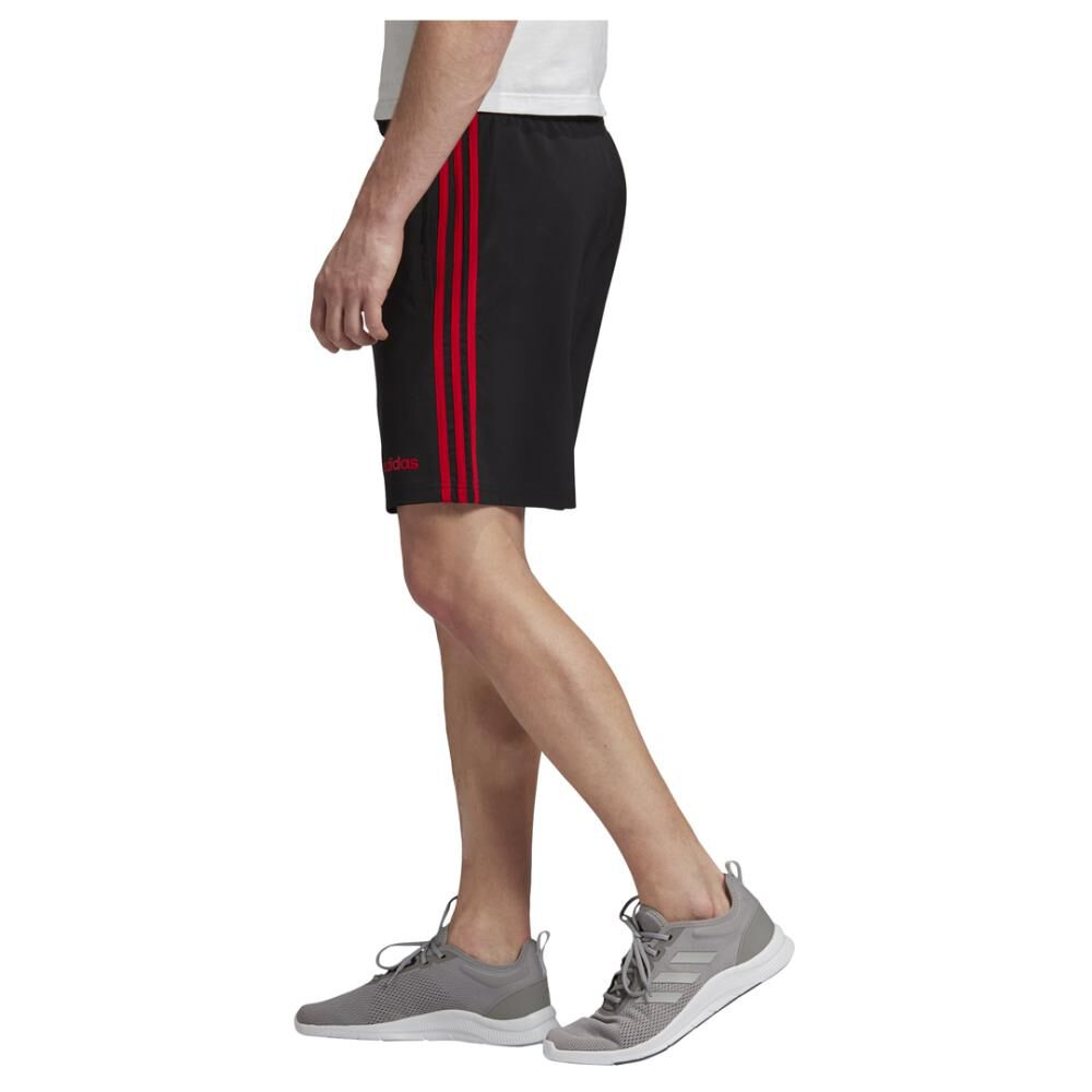 Short Deportivo Hombre Adidas Essentials 3 Stripes 7in Chelsea image number 1.0