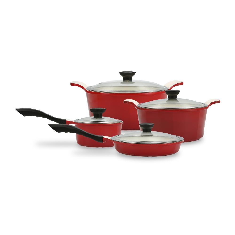 Bateria De Cocina Kitchenware Simply Red / 8 Piezas image number 0.0