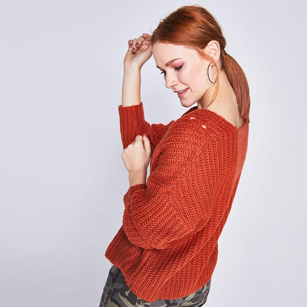 Sweater Detalles Calados Mujer Freedom image number 2.0